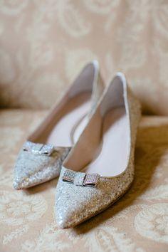 glittery heels, photo by Tory Williams http://ruffledblog.com/georgia-railroad-museum-wedding #weddingshoes