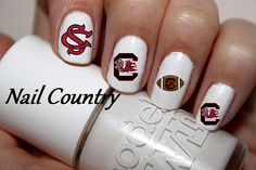 50pc South Carolina Gamecocks Football Nail Decals Nail Art Nail Stickers Best Price On Etsy NC292 on Etsy, $3.99