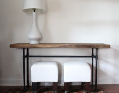 Opposites attract in a DIY console table