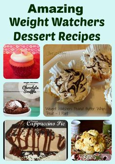 Weight Watchers Dessert Recipe Roundup - Just 2 Sisters http://#recipes http://#PPV http://#WeightWatchers http://#desserts