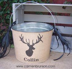Hunting Deer Personalized Easter Basket
