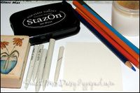Prismacolor pencils and Gamsol technique