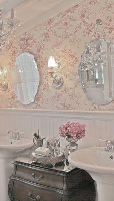 Vintage French Cottage Bathroom On Pinterest French Cottage Vintage Bathro