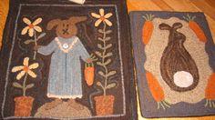 Country Freckles: Bunnies rug ii, freckl, rug hook, hook rug, rughook