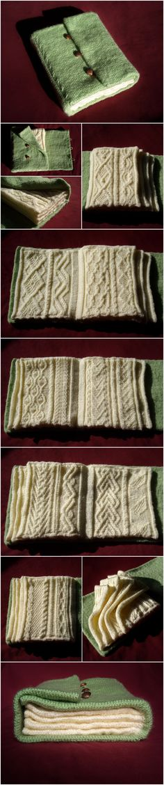 The Knitted Book by *TinyWild on deviantARt- This would be great for swatches.