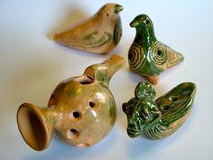 Ceramic whistles /keraminiai švilpukai (made by Algimantas Lekevičius)
