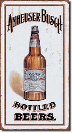 Anheuser Busch Tin Sign, $8.95