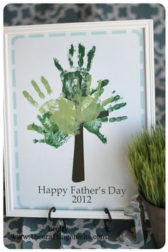 Father's Day Handprint tree craft idea