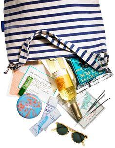 Hamptons-themed gift bag