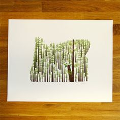 OREGON (state print via Etsy)