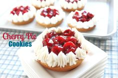 Cherry Pie Cookies-Easy Recipe-@CreatedbyDiane