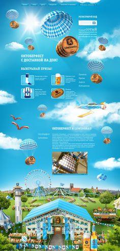 Unique Web Design, Lowenbrau #webdesign #design (http://www.pinterest.com/aldenchong/)