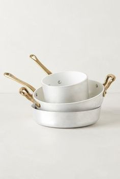 anthropologiecom 4800, product, bergamo cookwar, design interiors, 1932 bergamo, minis, hous, kitchen, white gold