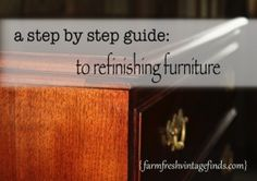 How to strip and refinish furniture~Farm Fresh Vintage Finds dot com