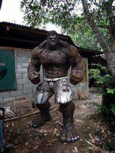 The Hulk made from scrap metal