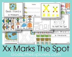 Preschool Printable Pack: X Marks the Spot