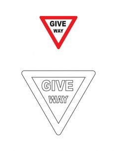 Give way traffic sign coloring page | Download Free Give way traffic sign coloring page for kids | Best Coloring Pages