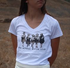 love love love this ! The Artful Girls Club V Neck T shirt Tee by TheArtfulGirlsClub, $22.00