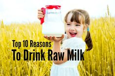 Top 10 Reasons To Drink Raw Milk / http://villagegreennetwork.com/top-10-reasons-drink-raw-milk/