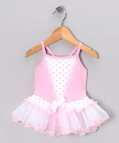 Take a look at this Butterfly TREASURES Pink Skirted Leotard - Infant & Toddler by Dance Class Collection on #zulily today!