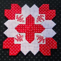 December Lucy Boston Block by Jan at Sew and Sow Farm