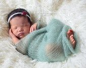 Newborn Knit Mohair Wrap Photo Prop - Hand Knit RTS Photography Prop