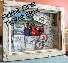 Admit One Ticket Box by Raggedy Creek Creations, via Flickr