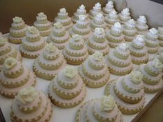 """Bridal Shower cookie """"cakes""""...a lot of work, but so cute"""