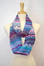 violet, loop scarv