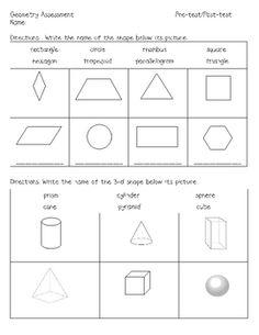 grade math, classroom idea, 3d shape, futur classroom, classroom decor, first grade symmetry, geometry first grade, grade geometri, assessment