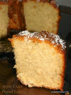 Recipes For My Boys: Apple Cider Pound Cake