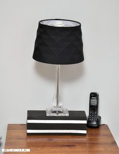 Lamp not tall enough? Make a stand out of a recycled shoebox!