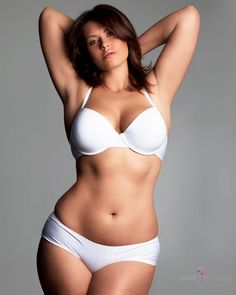 Could you tell me the name of this plus size model?