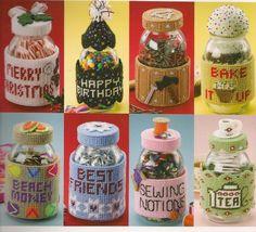 Jar Wraps Plastic Canvas Book by needlecraftsupershop on Etsy, $8.99