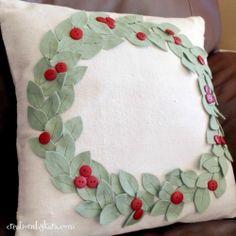 wreath pillow...Sassy Mei Vendor Challenge
