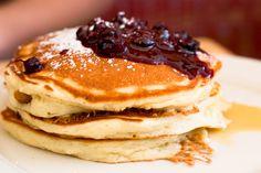 Gluten-free Pancakes with Blueberry Sauce - Foodista.com