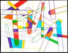 art project, stick art, popsicl stick