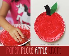 craft craft, letter, plate crafts, plate appl, creation idea, apples, appl craft, apple crafts, paper plates