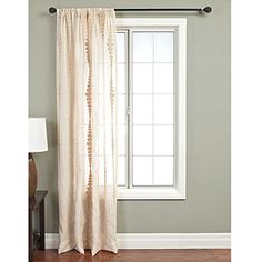Natural Nubia Stripe Curtain