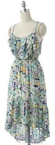 LC Lauren Conrad Ruffle Hi-Low Dress