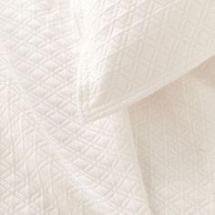 Diamond Matelasse Coverlet Ivory By Pine Cone Hill For Thos. Baker