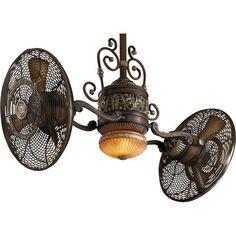 decor, gyros, belcaro walnut, ceiling fans, minka air