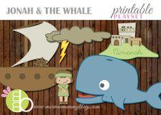 Jonah and the Whale Printable Playset | Mormon Mommy Printables