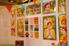 bridal show booth ideas.  love this layout, with a total photography theme, not just random images.