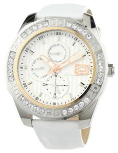 Marc Ecko Men's E13574G2 The Jolie White Leather Strap Watch $48.67