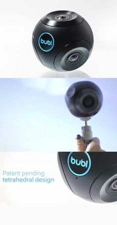 Bublcam - this portable camera shoots 14 megapixel spherical photos and videos at 1080p at 15 frames per second and 720p at 30 fps in H.264. Equipped with a Wi-Fi connection, Bublcam allows users to stream live video to computers and mobile devices