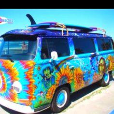 buses, camper, tie dye, classic cars, jimi hendrix, dream, hippie life, vw vans, dyes