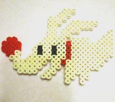 Zero Nightmare Before Christmas Perler Bead Magnet by GeeklyYours