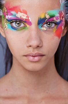 colorfull art fashion style pretty gorgeous model brown skinny