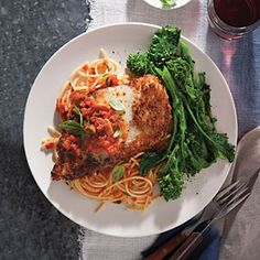 Chicken Parmesan with Spaghetti Recipe - cooking light